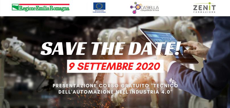 Save The Date - Presentazione Corso Gratuito Tecnico dell'Automazione